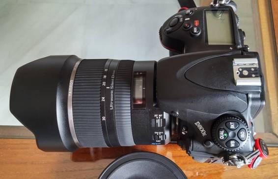Tamron 15-30mm montado en la Nikon D800e zenital