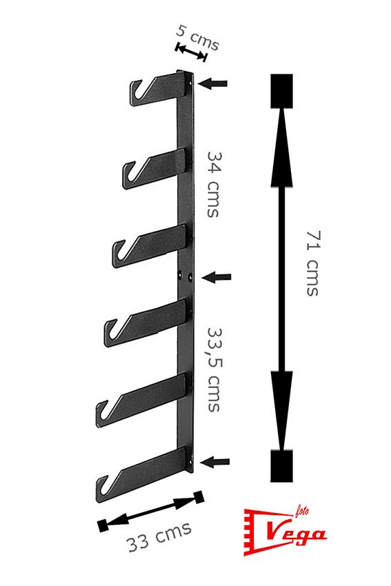 6 ganchos portafondos